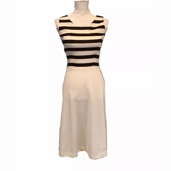 Dresses & Skirts - XS 70s Striped Sundress Poly stretchy darted